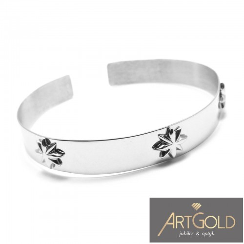 Bransoleta srebrne - bangle